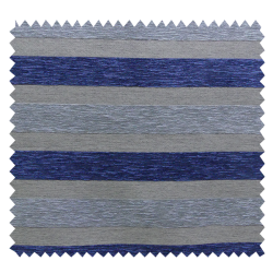 Tissu Jacquard Treviso Rayures - Bleu