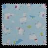 Tissu Imprimé Lama Toile Fond Bleu Clair
