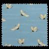 Tissu Imprimé Grue Toile Fond Bleu