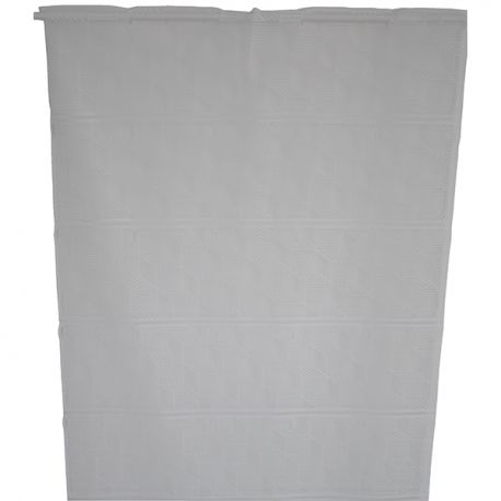 Tissu Modulable Kubic Largeur 75 cm Geometrie Blanc
