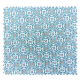 Tissu Olympe Jacquard Allover Olympe Turquoise