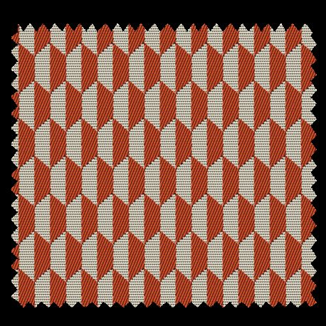 Tissu Jacquard Otto Orange