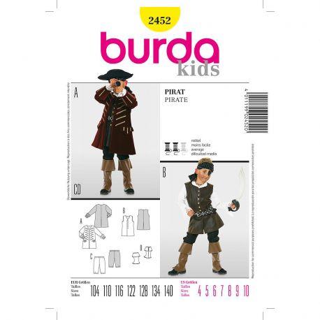 Patron Burda 2452 Historique Pirate 104/140