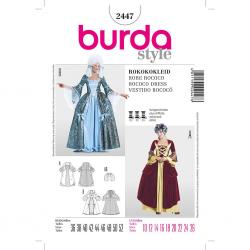 Patron Burda 2447 Historique Robe Rococo 36/52
