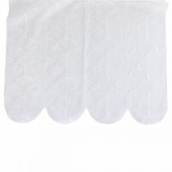 Tissu Brise Bise Plume de Paon Blanc Hauteur 58 cm