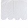 Brise Bise Hauteur 58 cm Plume de Paon Blanc