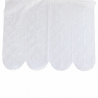 Brise Bise Hauteur 90 cm Plume de Paon Blanc