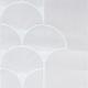 Tissu Brise Bise Plume de Paon Blanc Hauteur 90 cm