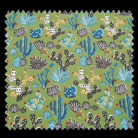 Tissu Imprimé Tito Fond Cactus