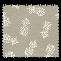 Tissu Ananas Beige Blanc