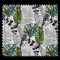 Tissu Olite Lisboa Feuille Vert Impression digitale