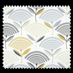 Tissu Dandelion Pissentlit Imprimé Safran