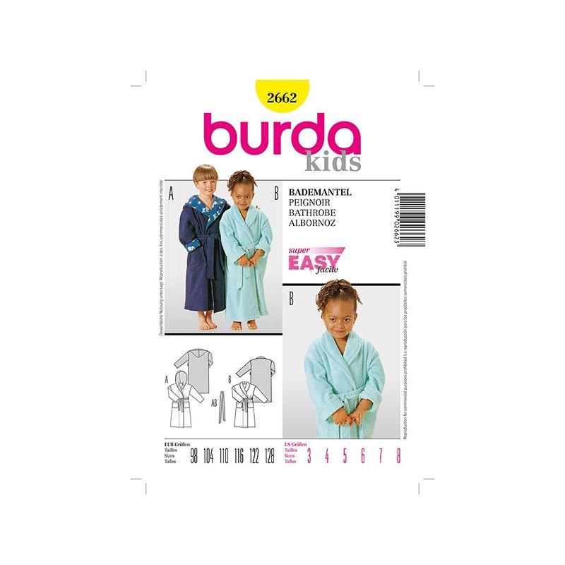 Patron Burda Kids 2662 Peignoir 98/128