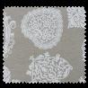 Tissu Imprimé Coeur Lin Blanc