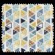 Tissu Imprimé Vala Triangle Numérique Multico