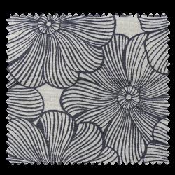 Tissu Imprimé Diva Fleurs Lin Noir