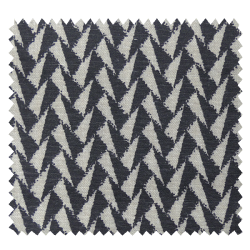 Tissu Imprimé Corteo Symetrie Lin Noir