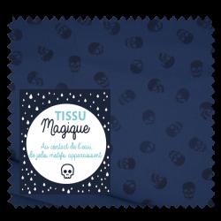 Tissu Soft Shell Magic Tête de Mort Jeans