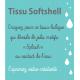 Tissu Soft Shell Magic Splash Gris