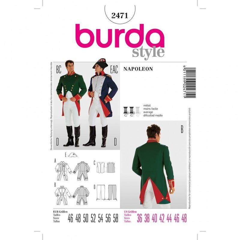 Patron Burda Historique 2471 Napoléon 46/56