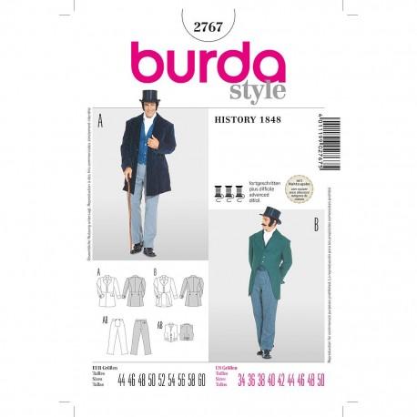Patron Burda Historique 2767 Costume des année 1848 44/60