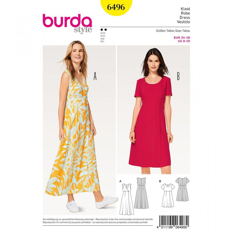 Patron Burda Style 6496 Robe