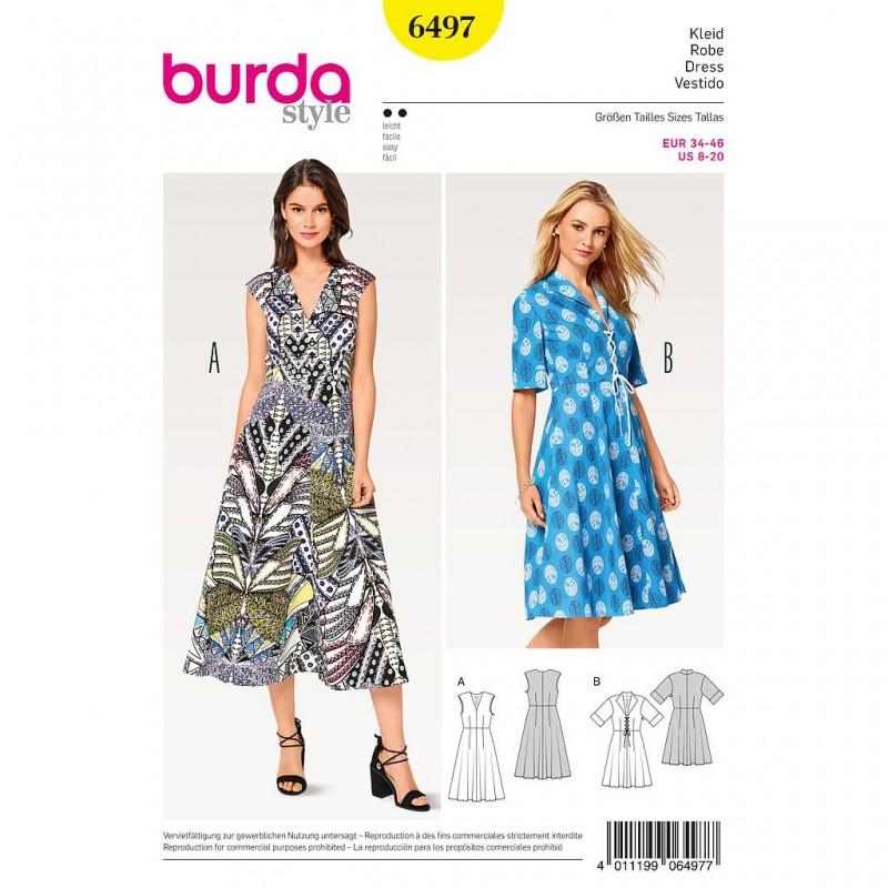 Patron Burda Style 6497 Robe