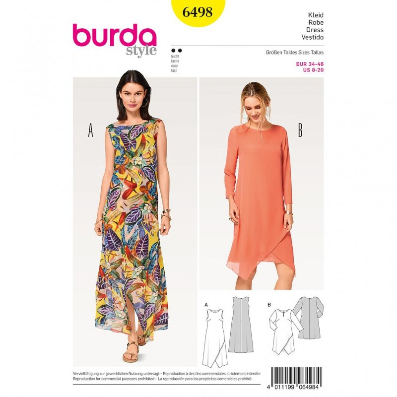 Patron Burda Style 6498 Robe