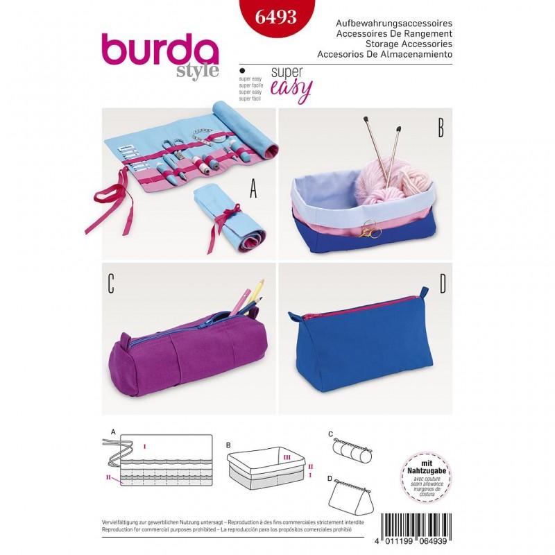 Patron Burda Style 6493 Accessoires de Rangement