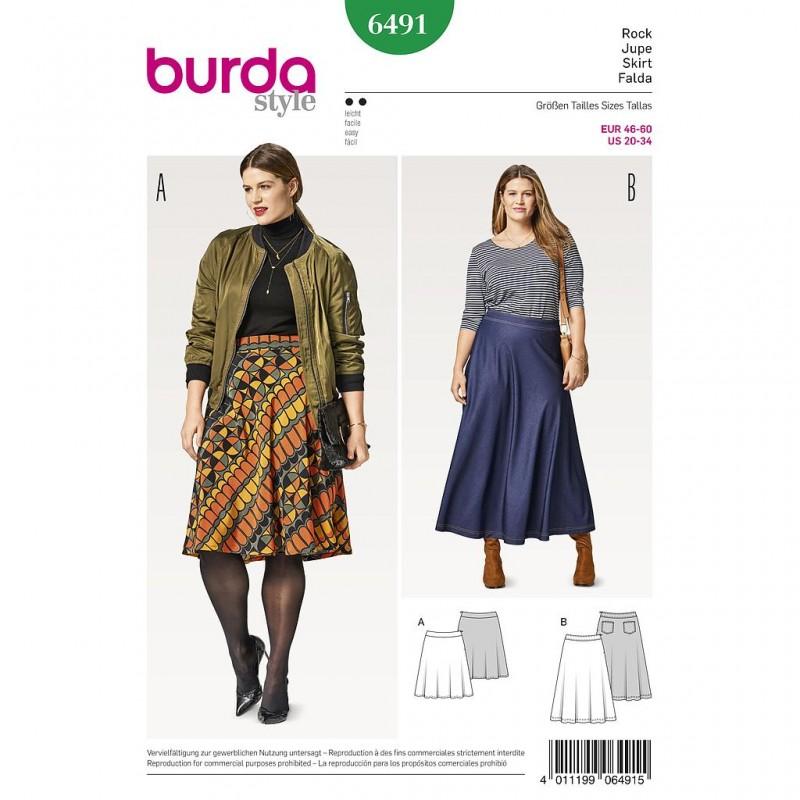 Patron Burda Style 6491 Jupe