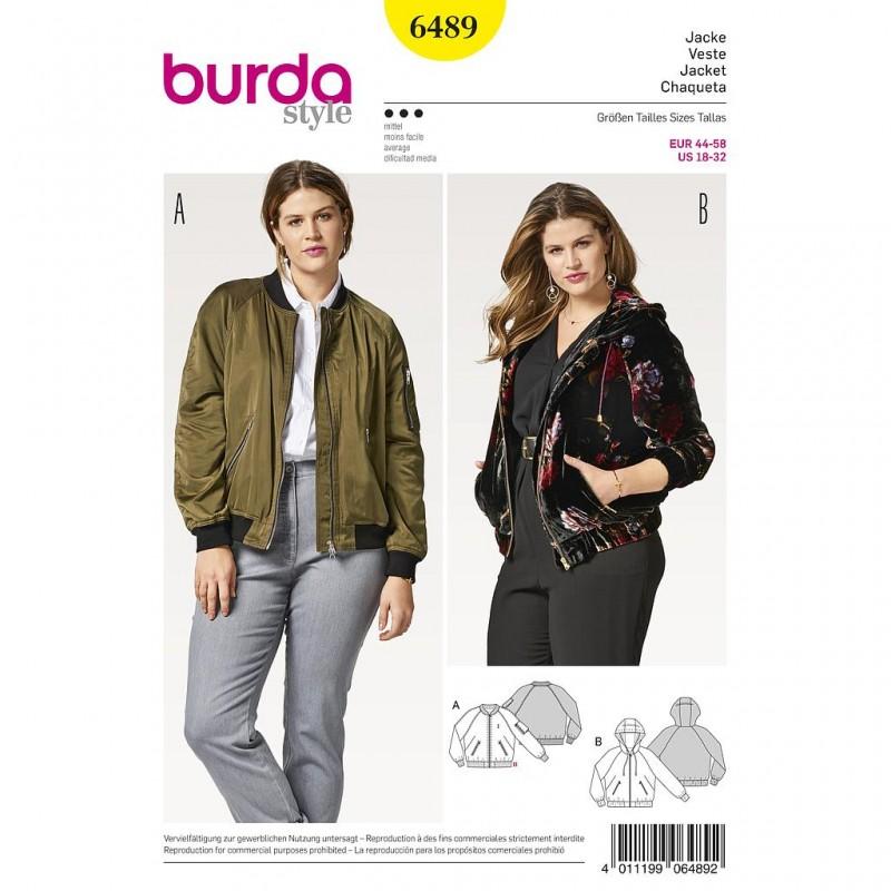 Patron Burda Style 6489 Veste Blouson