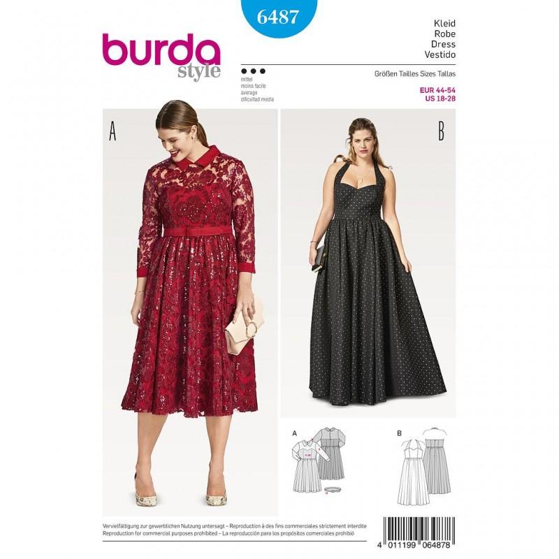 Patron Burda Style 6487 Robe