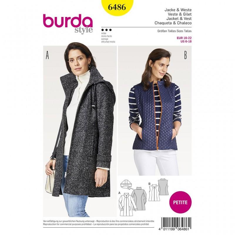 Patron Burda Style 6486 Veste Gilet