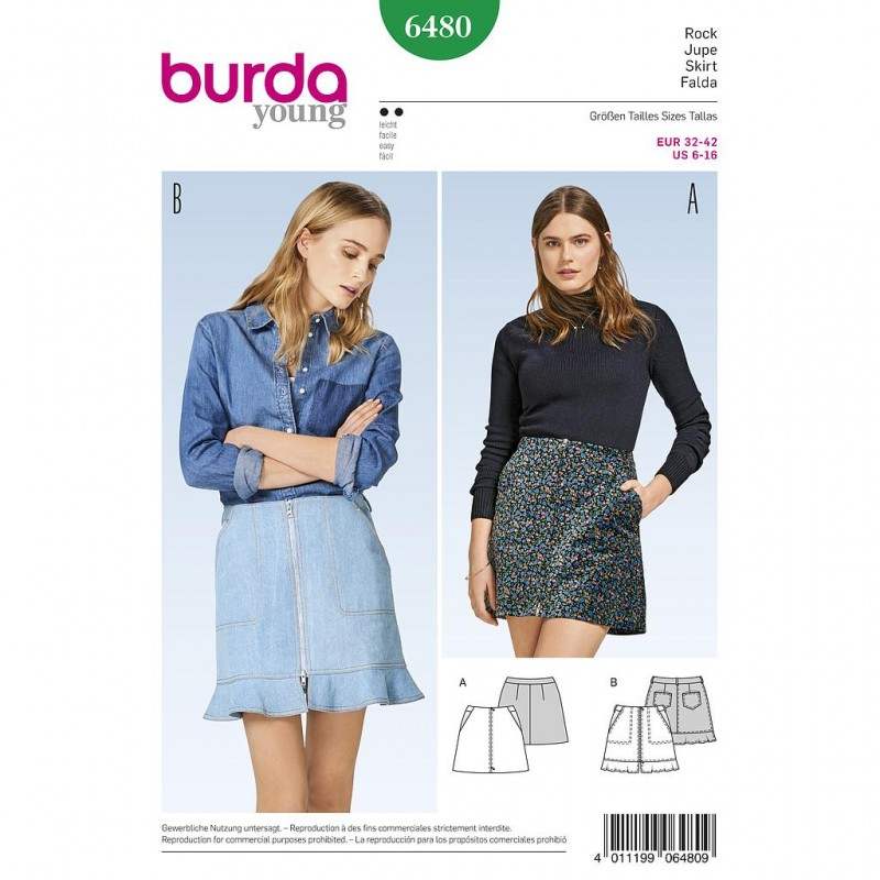 Patron Burda Style 6480 Jupe