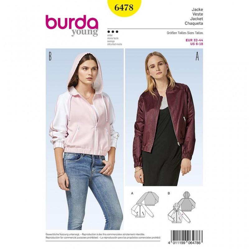Patron Burda Style 6478 Veste