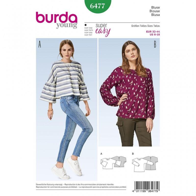 Patron Burda Style 6477 Blouse