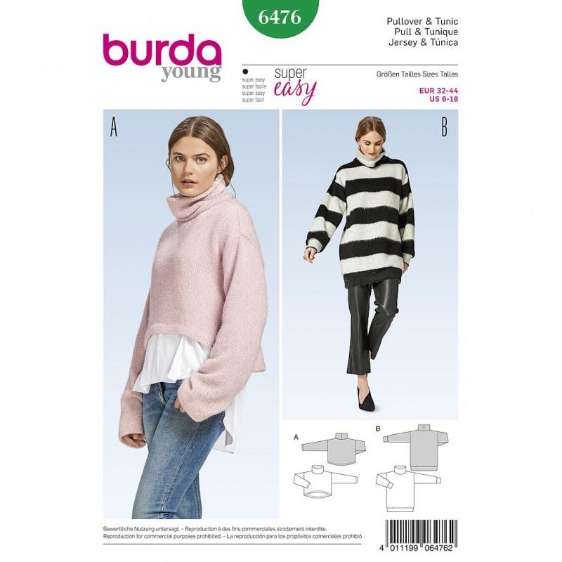 Patron Burda Style 6476 Pull Tunique