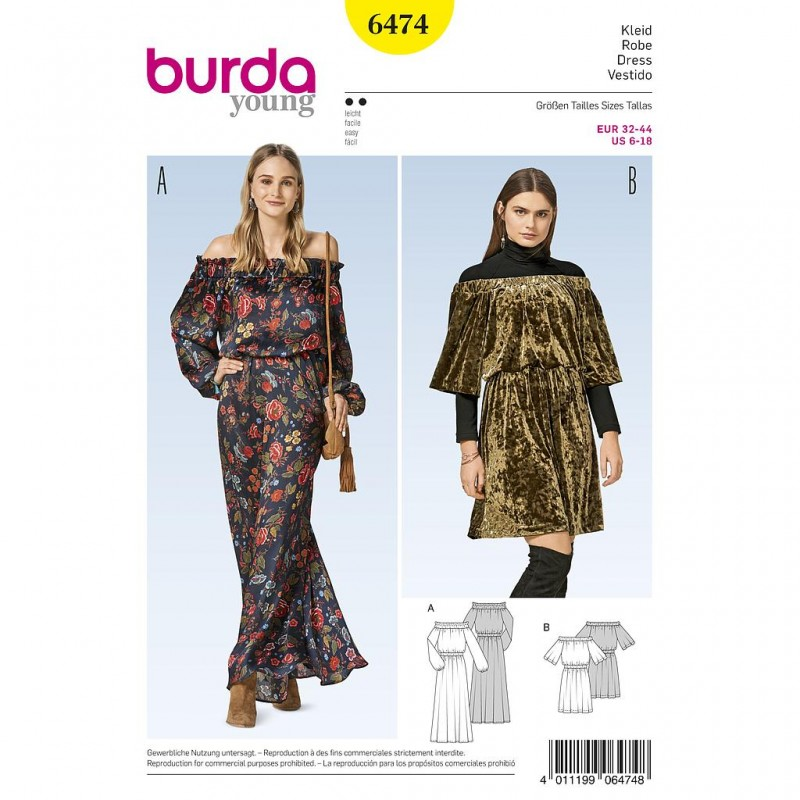 Patron Burda Style 6474 Robe