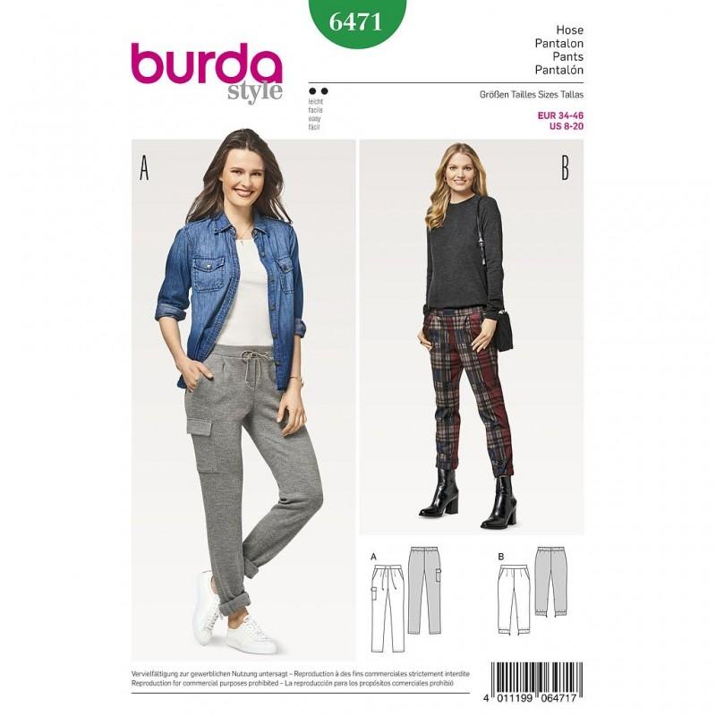 Patron Burda Style 6471 Pantalon