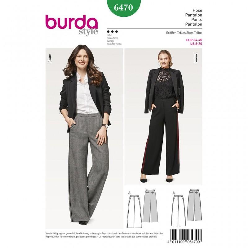 Patron Burda Style 6470 Pantalon