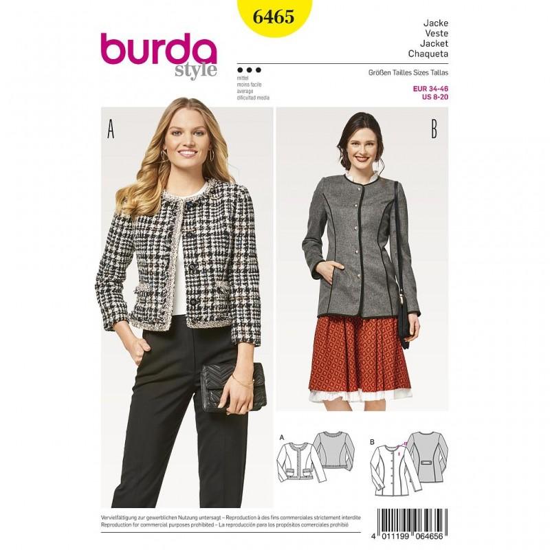 Patron Burda Style 6465 Veste