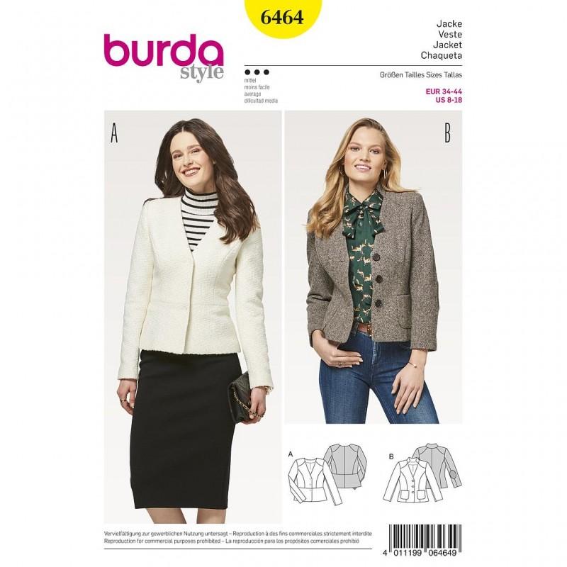 Patron Burda Style 6464 Veste