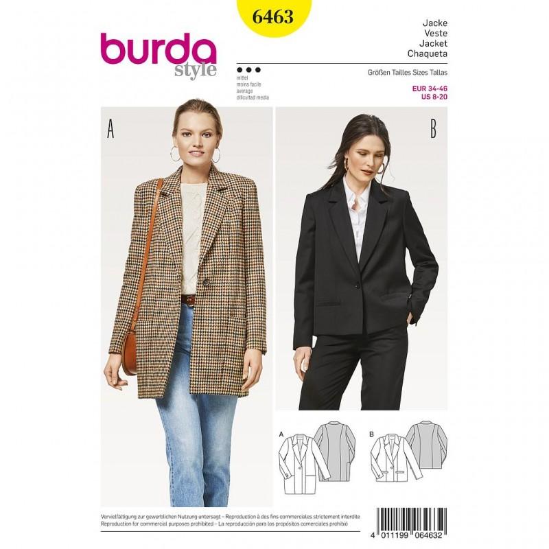 Patron Burda Style 6463 Veste