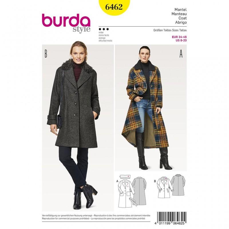 Patron Burda Style 6462 Manteau