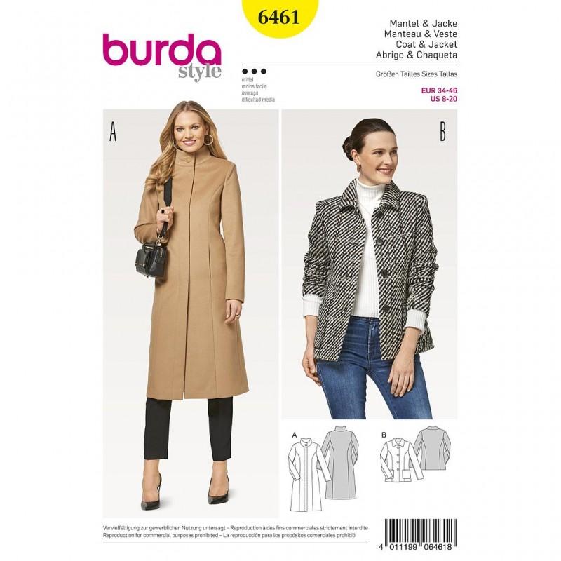 Patron Burda Style 6461 Manteau Veste