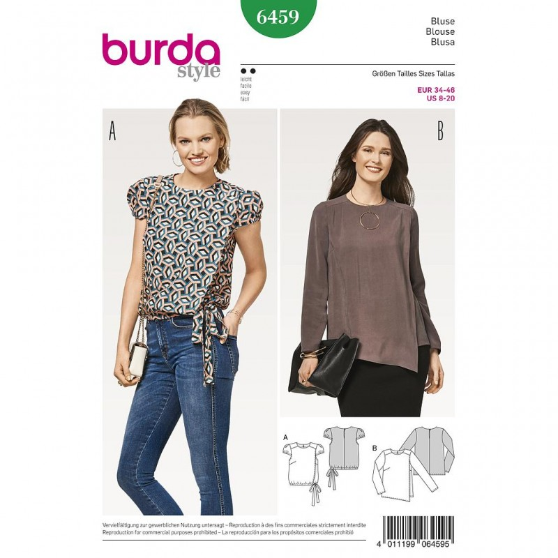 Patron Burda Style 6459 Blouse