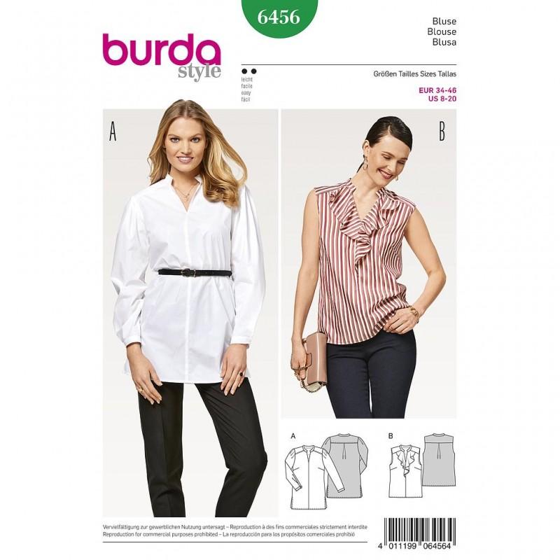 Patron Burda Style 6456 Style Chemisier