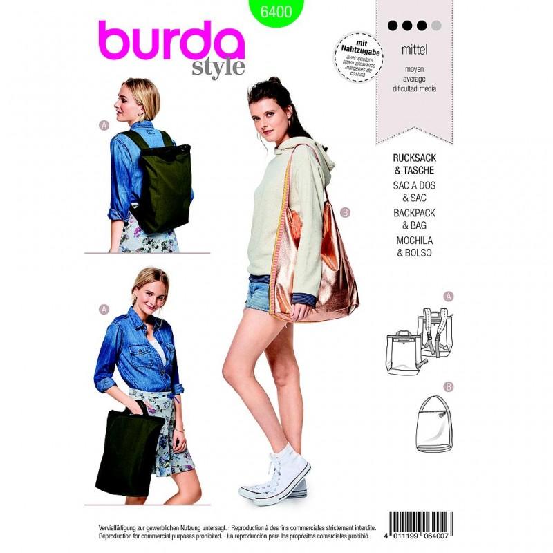 Patron Burda Style 6400 Sac à Dos Mode Citadine