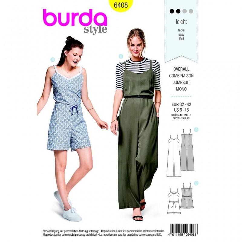 Patron Burda Style 6408 Combinaison Taille 32/42