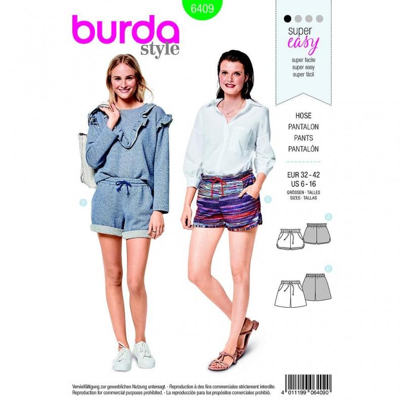 Patron Burda Style 6409 Short Taille 32/42